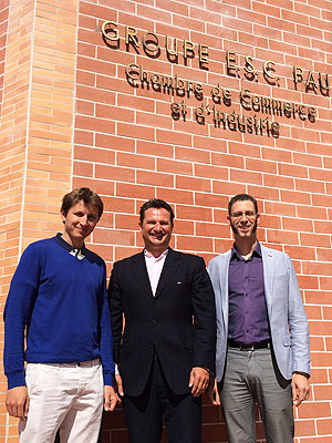 From left to right: Florent Deisting (Groupe ESC PAU), Joachim Häcker (German Institute of Corporate Finance), Frédéric Branger (Groupe ESC PAU)